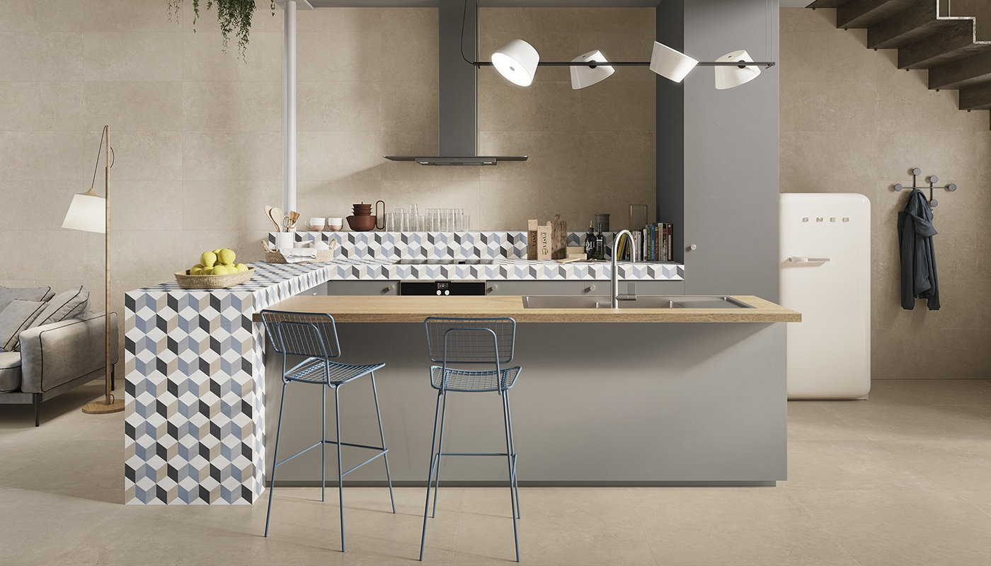 Totalook kitchen sand concrete 2319
