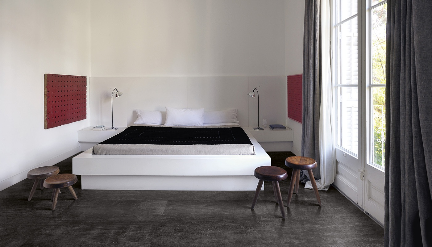 On Square bedroom black concrete 2084