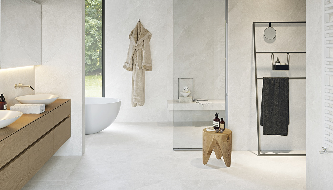 Cornerstone bath white stone 2406