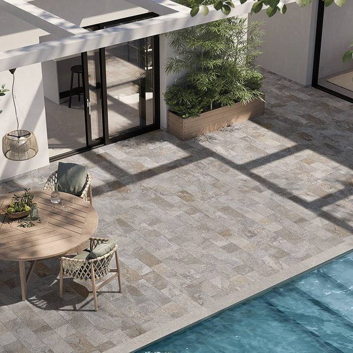 Outdoor coverings: stoneware floors for outdoors 14