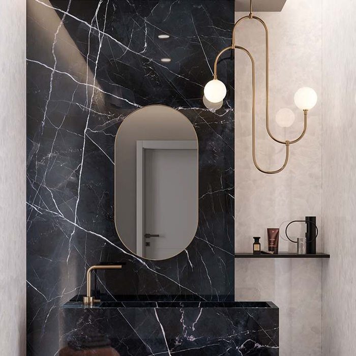 Black Marble effect bathroom tiles is the unconventional choice that brings a stunning result 13